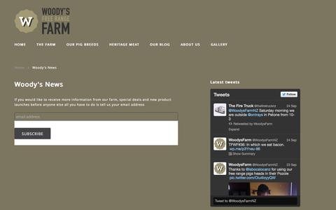 Screenshot of Signup Page woodysfarm.co.nz - Woody's News | Woody's Free Range Farm - captured Oct. 7, 2014