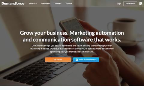Screenshot of Home Page demandforce.com - Reputation Management & Appointment Scheduling | DemandForce - captured April 8, 2018