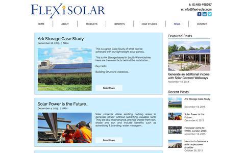Screenshot of Press Page flexi-solar.com - Blog | News & Articles - captured Nov. 25, 2016