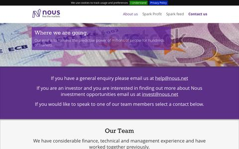 Screenshot of About Page nous.net - About us - Nous - captured Oct. 7, 2014