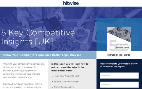 Screenshot of Landing Page connexity.com - Hitwise | Competitive Insights from Hitwise - captured Dec. 10, 2016