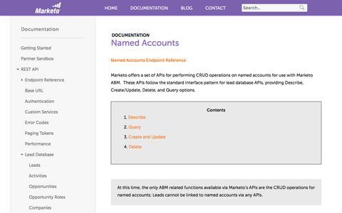 Screenshot of marketo.com - Named Accounts - Marketo Developers - captured June 8, 2017