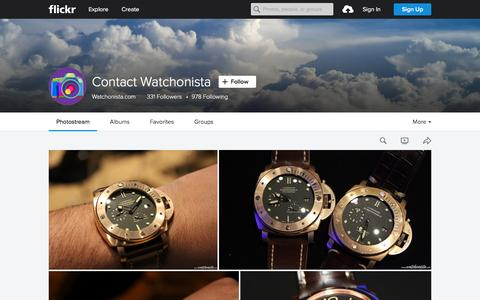Screenshot of Flickr Page flickr.com - Contact Watchonista | Flickr - Photo Sharing! - captured Nov. 23, 2015