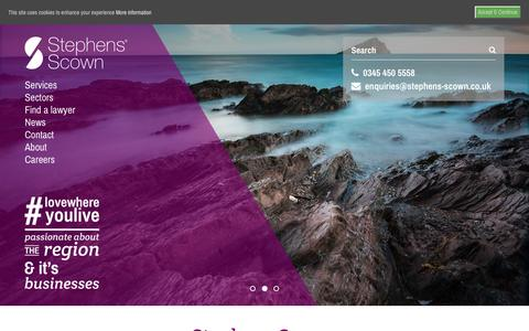 Screenshot of Home Page stephens-scown.co.uk - Solicitors in Exeter, Truro, St Austell - Stephens Scown - captured Feb. 15, 2016