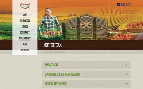 Screenshot of Team Page proactusa.com - Supply Chain Management | Fresh Produce | Fresh Food | Team - captured Oct. 28, 2014