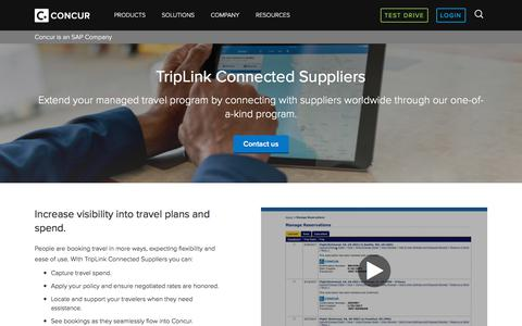 Triplink's Open Platform Connects Suppliers, Travelers and TMCS - Concur