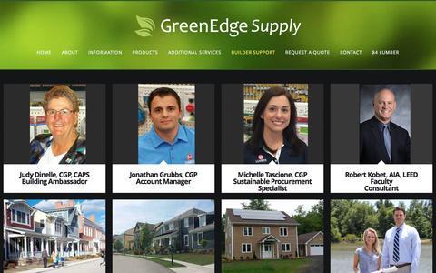 Screenshot of Support Page greenedgesupply.com - Builder Support - GreenEdge Supply - captured Dec. 15, 2015