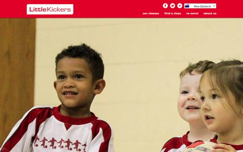Screenshot of Signup Page littlekickers.co.nz - Find Little Kickers® classes and venues near you for pre school and junior football coaching - captured Jan. 31, 2016