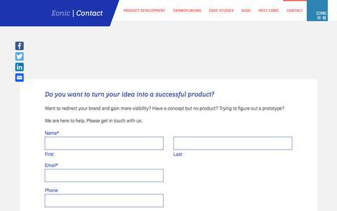 Screenshot of Contact Page eonic.com.hk - Contact - Eonic - captured Sept. 26, 2018
