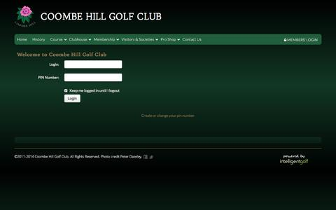 Screenshot of Login Page coombehillgolfclub.com - Login Required - Coombe Hill Golf Club :: Coombe Hill Golf Club welcomes visitors from all over the world to enjoy in the delight of meeting the challenges of one of England�s most highly rated and traditional courses. - captured Dec. 12, 2015