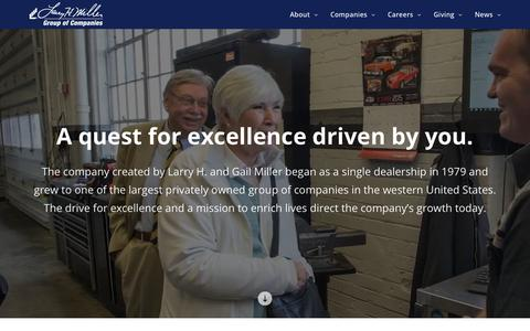 Screenshot of About Page lhm.com - About Us | Larry H. Miller Group of Companies - captured June 26, 2017
