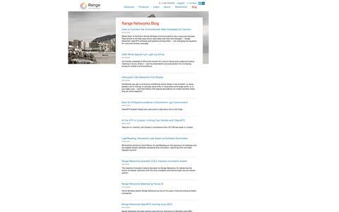 Screenshot of Blog rangenetworks.com - Range Networks Blog - captured Sept. 30, 2014