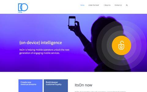 Screenshot of Home Page itsoninc.com - ItsOn Inc - captured Sept. 16, 2014
