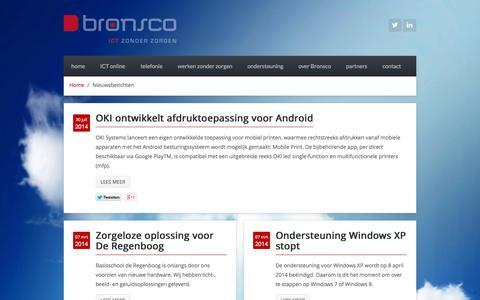 Screenshot of Blog bronsco.nl - Nieuwsberichten - captured Oct. 5, 2014