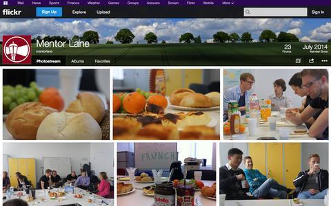 Screenshot of Flickr Page flickr.com - Flickr: mentorlane's Photostream - captured Oct. 26, 2014