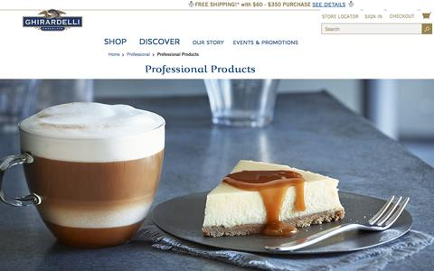 Screenshot of Products Page ghirardelli.com - Ghirardelli Professional Products - Chocolate Foodservice Products - captured Jan. 2, 2017