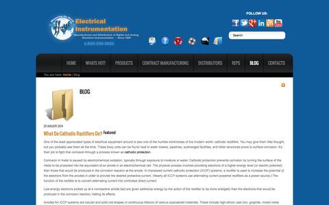 Screenshot of Blog hoytmeter.com - Blog - Hoyt Electrical Instrument Works, Inc. - captured Oct. 3, 2014