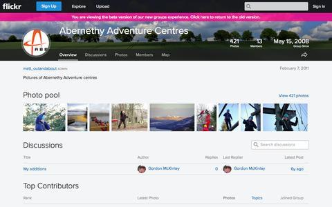 Screenshot of Flickr Page flickr.com - Flickr: The Abernethy Adventure Centres Pool - captured Oct. 23, 2014