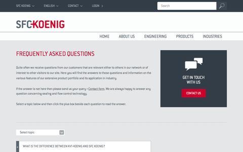 Screenshot of FAQ Page sfckoenig.com - Flow Restrictor, Expander Plug, Check Valve FAQs | SFC KOENIG - captured Dec. 19, 2015