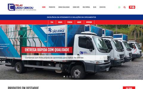 Screenshot of Home Page telasligoucercou.com.br - Telas Ligou Cercou Soluções em cercamentos - Gradil, Telas e Alambrados - captured Oct. 20, 2018