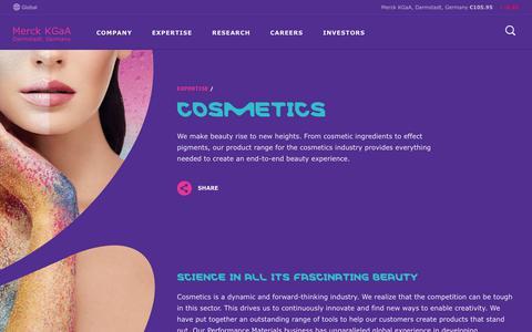 Screenshot of emdgroup.com - Cosmetics - Expertise | Merck KGaA, Darmstadt, Germany - captured June 18, 2017