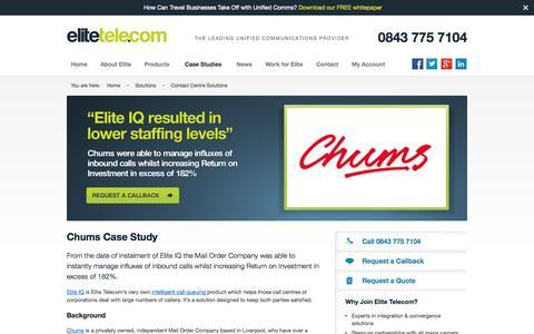 Screenshot of Case Studies Page elitetele.com - Contact Centre Solutions - captured Oct. 10, 2014