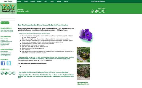Screenshot of Signup Page gardenadvice.co.uk - GardenAdvice gardening - MyGardenTeam service - captured Sept. 27, 2018