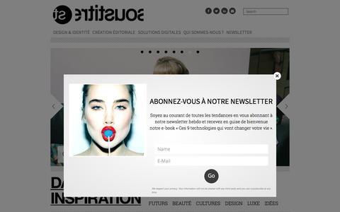 Screenshot of Home Page sous-titre.eu - AGENCE SOUS-TITRE | Le générateur de tendances: design & identité, création éditoriale, solutions digitales. - captured July 19, 2016
