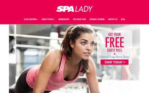 Screenshot of Home Page spalady.ca - Spa Lady Edmonton, Calgary | Women's Only Fitness Clubs - captured Jan. 18, 2016