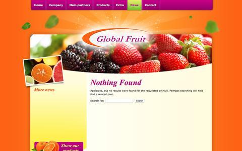 Screenshot of Press Page global-fruit.nl - News - Global Fruit B.V. - captured July 19, 2018