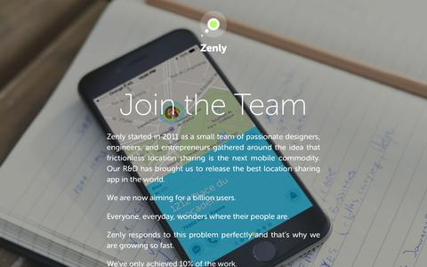Screenshot of Signup Page zen.ly - Join the team - captured March 23, 2016