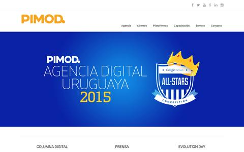 Screenshot of Home Page pimod.com - Agencia de publicidad digital � PIMOD - captured Dec. 6, 2015