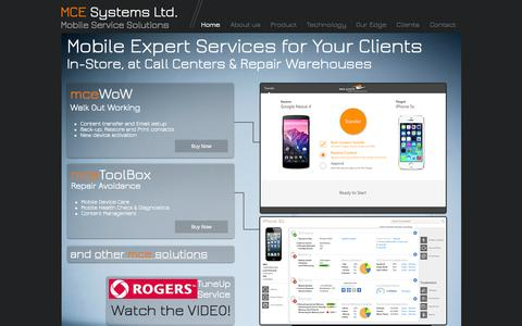 Screenshot of Case Studies Page mce-sys.com - MCE Systems Ltd. - In-Store Services for Mobile Devices - captured Oct. 3, 2014