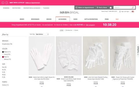 Wedding & Bridal Gloves: Lace & Long | David's Bridal