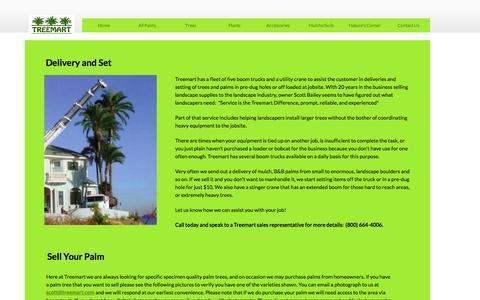Screenshot of Services Page treemart.com - Services - captured Dec. 15, 2016