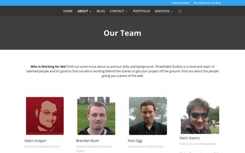 Screenshot of Team Page threesided.com - Our People | ThreeSided Studios - captured Oct. 25, 2017