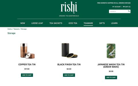 Buy Tea Storage Tins & Containers | Rishi Tea