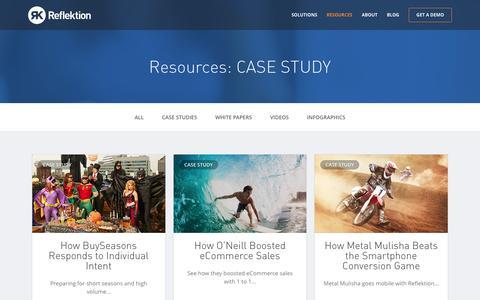 Screenshot of Case Studies Page reflektion.com - CASE STUDY Archives | Reflektion - captured Dec. 5, 2015