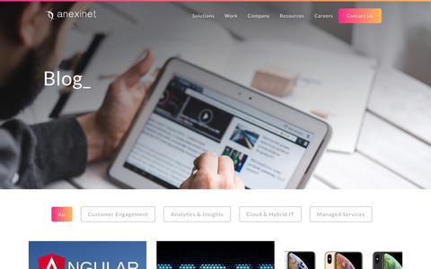 Screenshot of Blog anexinet.com - Digital Experience Resources Blog   Anexinet - captured Nov. 1, 2018