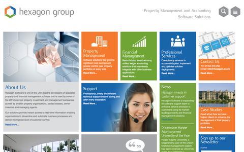 Screenshot of Home Page hexagon.co.uk - welcome - Hexagon - captured April 20, 2016