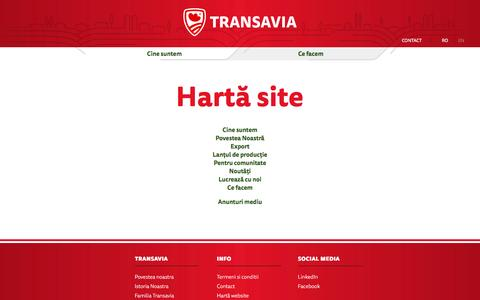 Screenshot of Site Map Page transavia.ro - Hartă site | Transavia - captured Dec. 10, 2016