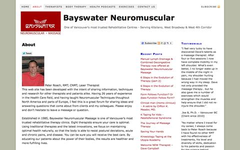 Screenshot of About Page bayswater.ca - About | Bayswater Neuromuscular - captured Oct. 5, 2014