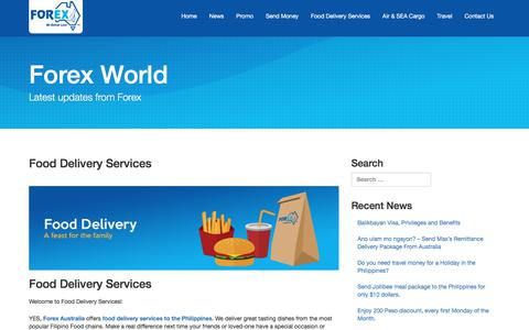 Food Delivery Services | Forex World