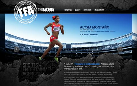 Screenshot of Home Page factory-agency.com - The Factory Agency - captured Sept. 3, 2015