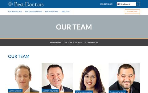 Screenshot of Team Page bestdoctors.com - OUR TEAM - Best Doctors New Zealand   Best Doctors New Zealand - captured Nov. 25, 2017