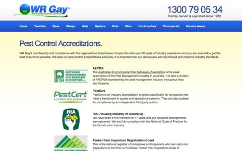 WR Gay Pest Control Accreditations & Industry Compliance