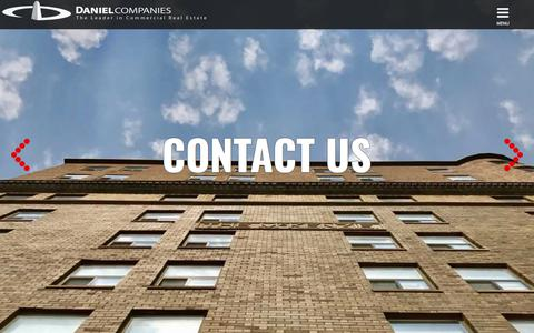 Screenshot of Contact Page danielcompanies.com - Contact Us | Daniel Companies - captured Aug. 5, 2018
