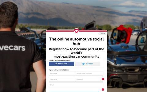 Screenshot of Home Page lovecars.com - Lovecars | The Automotive Social Hub - captured Nov. 13, 2016