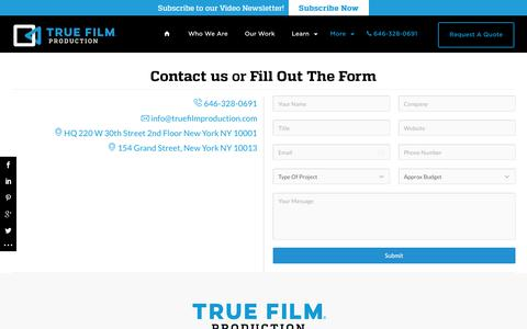 True Film Production Press | New York and Long IslandTrue Film Production – NYC Corporate Video Production Company