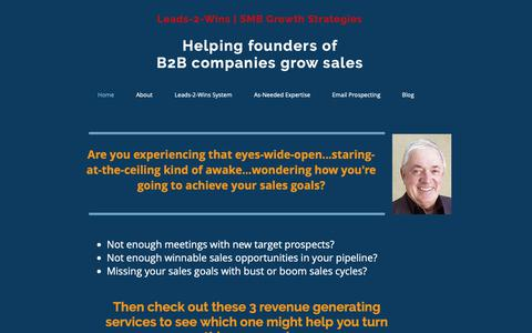 Screenshot of Home Page smbgrowthstrategies.com - Leads-2-Wins | SMB Growth Strategies - captured Dec. 8, 2018